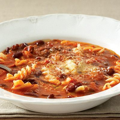 Taste Mag | Organic red bean, tomato and pasta soup @ https://taste.co.za/recipes/organic-red-bean-tomato-and-pasta-soup/