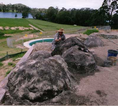 artificial rock and fake rock making make your own pofessional looking artificial garden and landscaping - Fake Rock