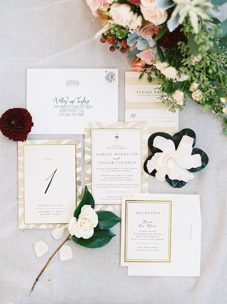 golden wedding card making ideas%0A Classic   Elegant Fall Dallas Wedding  Dallas WeddingGold Wedding  InvitationsUnique Wedding InvitationInvitation IdeasWedding