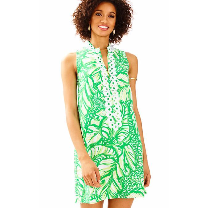 Patterned Perfectly - 12 Pretty Dresses for Easter Sunday - Southernliving. Who doesn't love a Lily dress for Easter? This new shift cut is softer and easier to move in. With a small callor and lace trim, it feels extra special for the day.  Buy It: Jane Shift Dress, $168; lilypulitzer.com