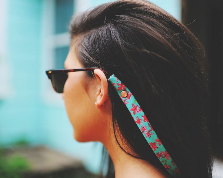 Cotton Snaps in Prints : No Longer Should Sunglass Straps Be Boring! Fashionable, Custom-Designed & Trendy Prints : Includes Innovative Snap Feature for Easy Use!