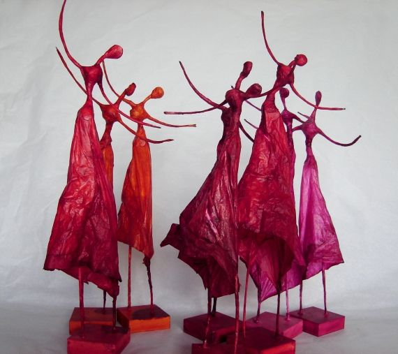 Polleritas de papel - Esculturas - Arte - XS