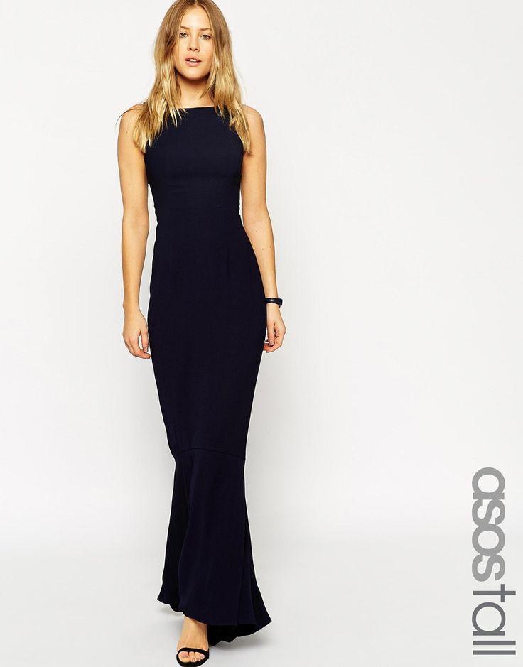 Asos tall wedding maxi dress with fishtail weddings for Tall dresses for weddings