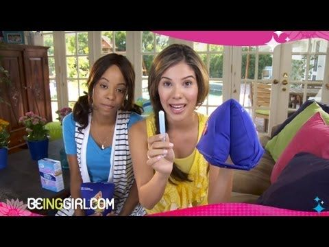 How to Insert a Menstrual Tampon   Menstrual Tampon Training Camp by BeingGirl. Her name is Sophie!!! Just like me!!!