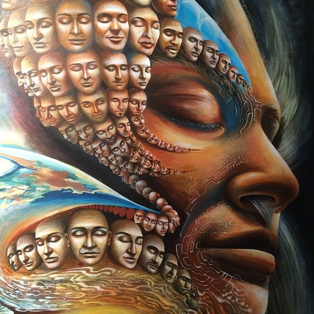 Tightening details in acrylics on this one, switching to oils soon... #olgaklimova #visionaryart #fantasticrealism