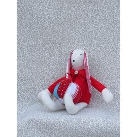 Handmade Fabric Bunny Doll with Ball
