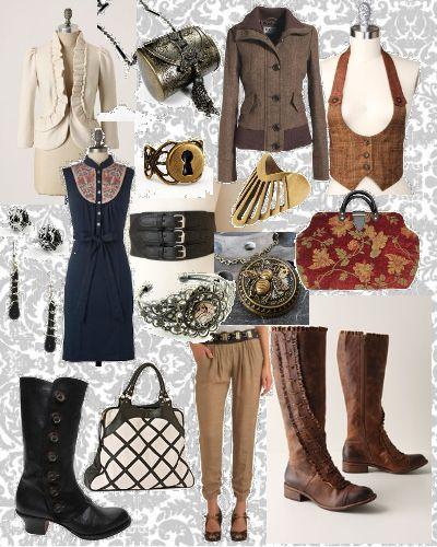 Steampunk Style Board. Steampunk fashion