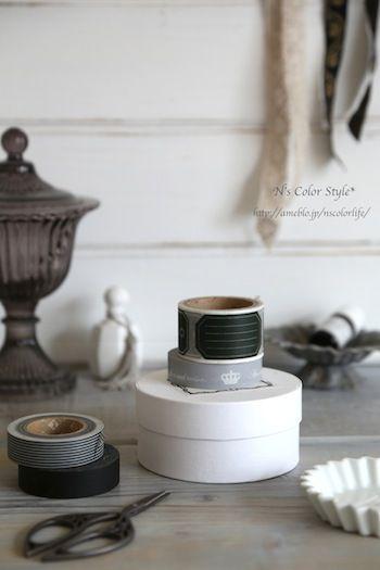 「簡単!マスキングテープでお洒落ラベリング*」の画像|N's Color Style* |Ameba (アメーバ)