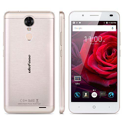 "nice Ulefone Tiger - 4G Smartphone Libre Android 6.0 Multitáctil (Pantalla HD 5.5"", 1.3GHz MT6737 Quad Core, 2GB RAM 16GB ROM, 8.0MP Cámara, Touch ID, OTG, GPS, WIFI, Dual SIM)"