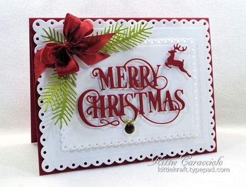 KC Impression Obsession Merry Christmas Flourish 1left