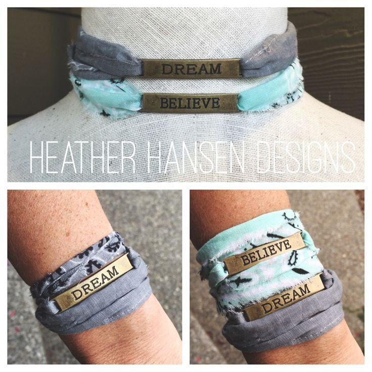 Dream or Believe bandana necklace or bracelet of choice