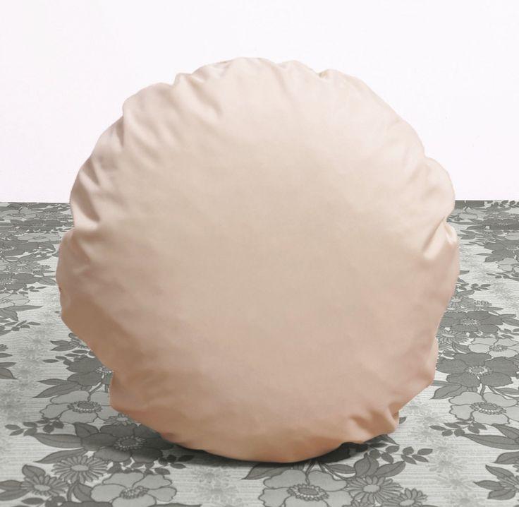 okrągła poduszka dekoracyjna PILLS cream color