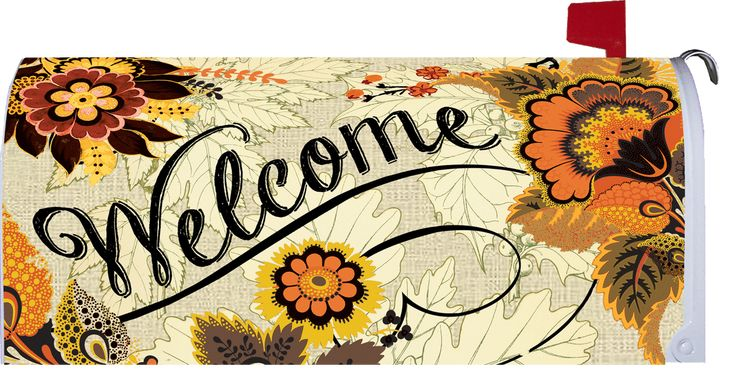 IAmEricas Flags - Fall Floral Welcome Mailbox Cover, $22.00 (http://www.iamericasflags.com/products/fall-floral-welcome-mailbox-cover.html)