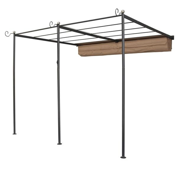 English Garden Steel Wall-mount Retractable Canopy - Overstock™ Shopping - Big Discounts on Gazebos & Pergolas