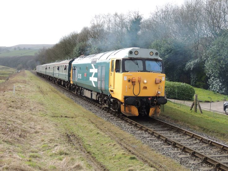 Class 50 Leaves Irwell Vale