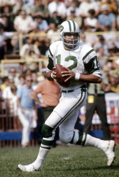Quarterback Joe Namath of the New York Jets