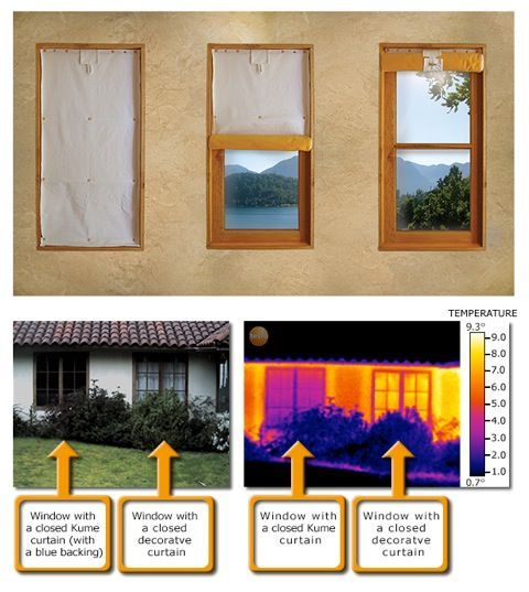 Insulating Curtains that Cut Heat Losses through Windows by 50% that you can make yourself, instructions on web page