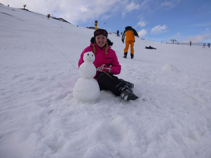 Ski Trip- made my first snowman!