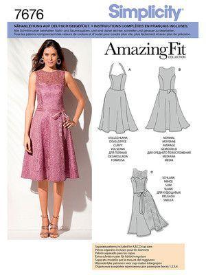 7676 Simplicity Schnittmuster Kleid