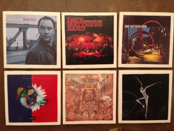 Album cover coasters  DMB by CraftySouthernGal on Etsy, $18.00