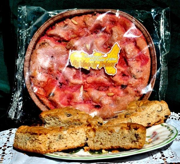 Schiaccia briaca capoliverese, tipical Elba island sweet bread