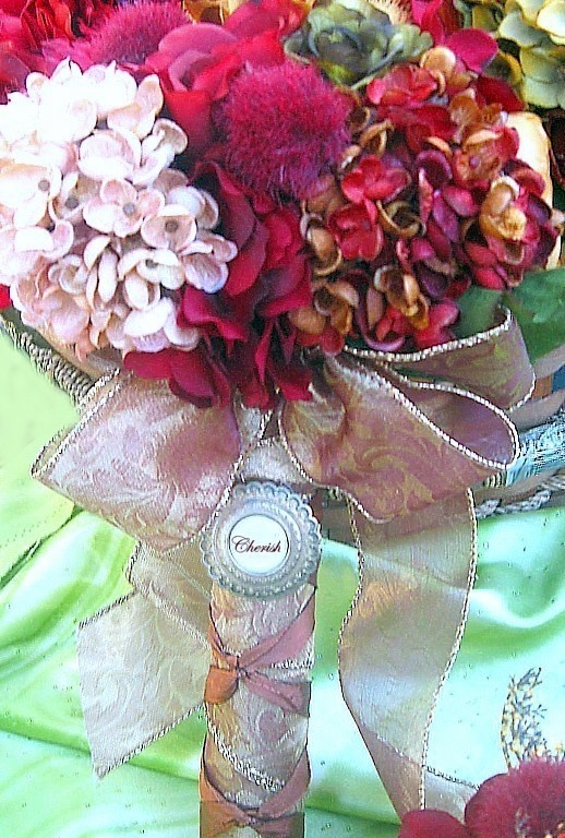 Cherish Bridal Bouquet  Set by whiteriver51 on Etsy, $650.00