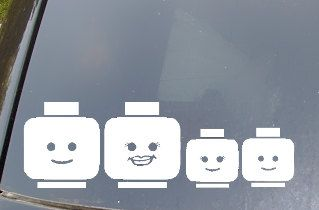 Hey, I found this really awesome Etsy listing at https://www.etsy.com/listing/103281436/lego-family-car-sticker-set-of-4