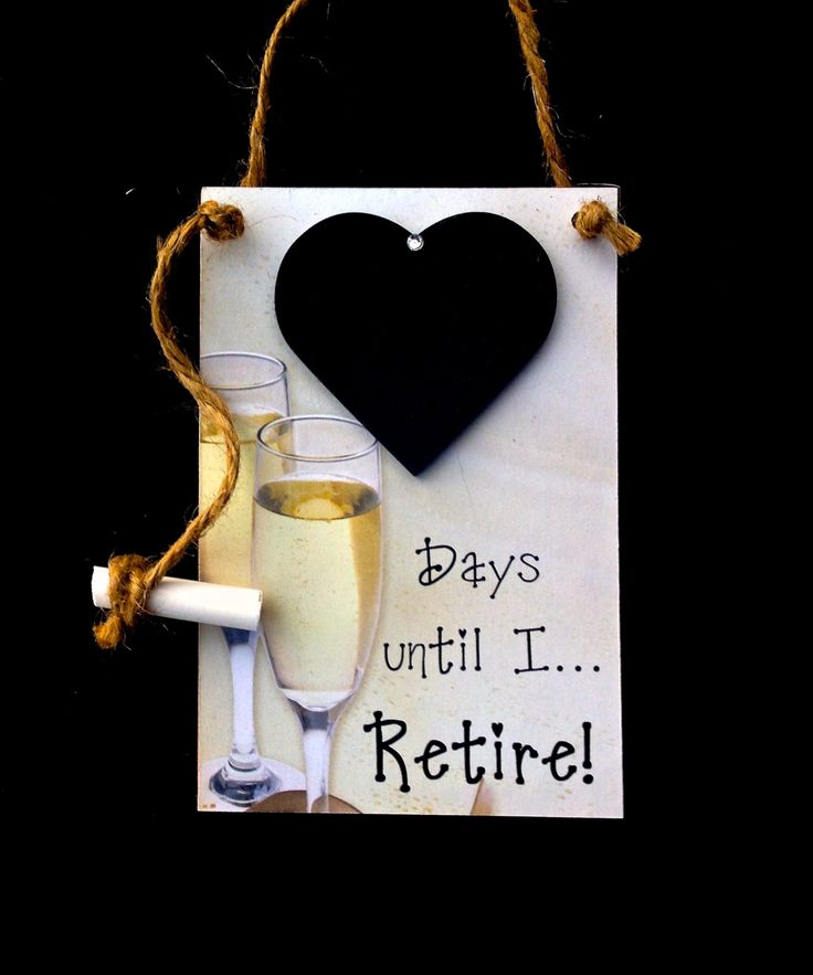 "Retirement Gifts, (Champagne) ""Days Until..I Retire!"", Countdown the days to…"