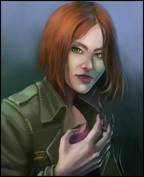 Female Gangrel.  Reminds me of my first LARP character