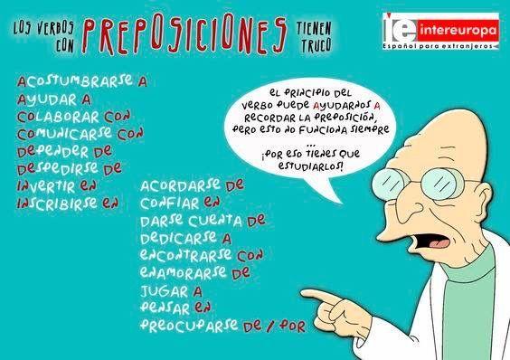 Preposiciones con verbos concretos