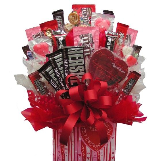 Candy Bouquets Baskets | Sweetheart Candy Bouquet | Candy Gift Baskets | Arttowngifts.com