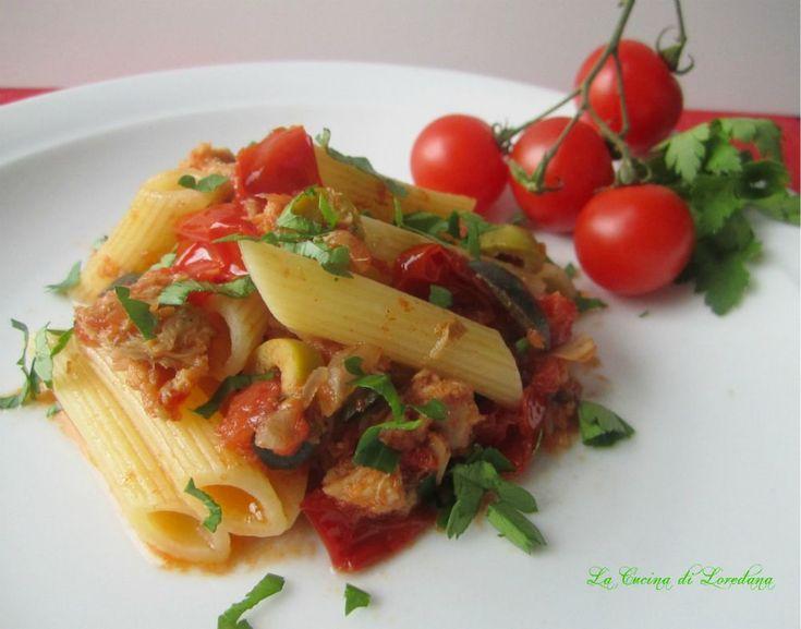 Pasta con tonno e pomodorini - Ricetta semplice