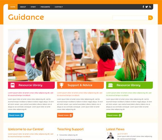 Guidance a education mobile website template free for Mobile site template free download