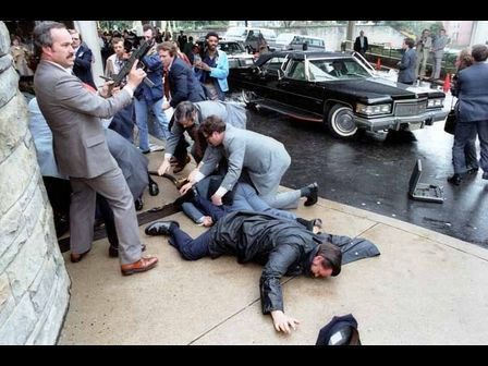 Assassination attempt on President Ronald Reagan