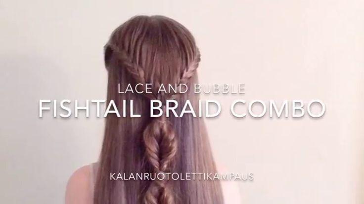 Lace Fishtail and Bubble Fishtail Tutorial (Kalanruotoletti-kampaus)