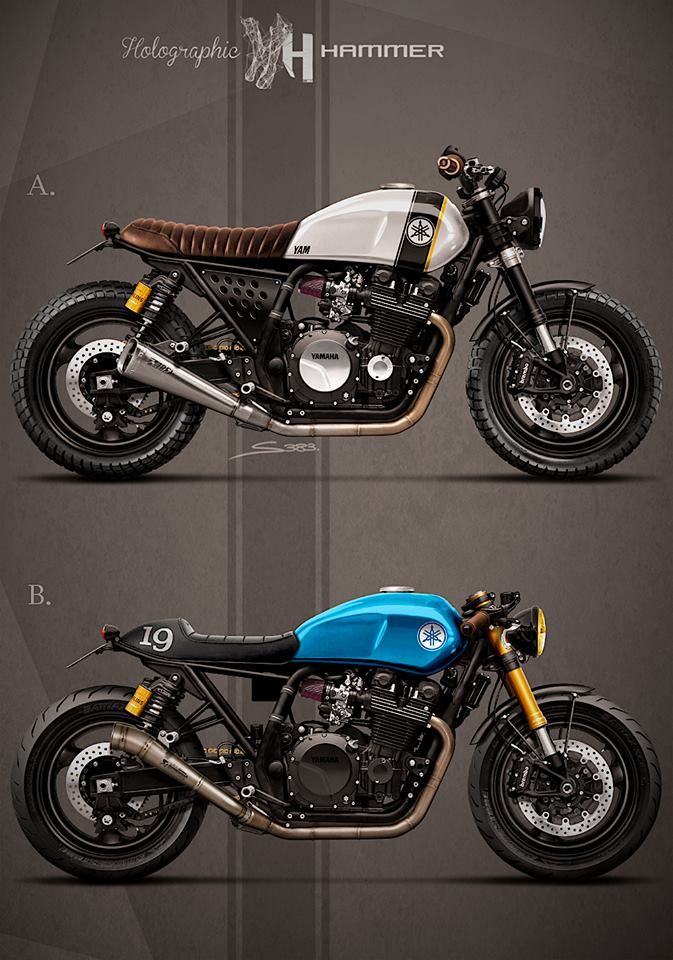 pinterest.com/fra411 #yamaha XJR1300 1998 by Holographic Hammer