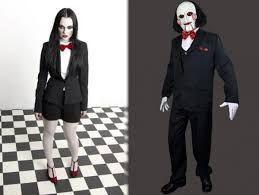 Resultado de imagen para muñeco de saw disfraz para mujer