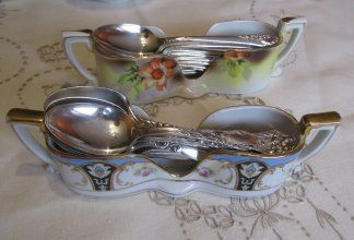 The Dish and the Spoon - Vintage china, crystal stem ware and silver plated flatware.