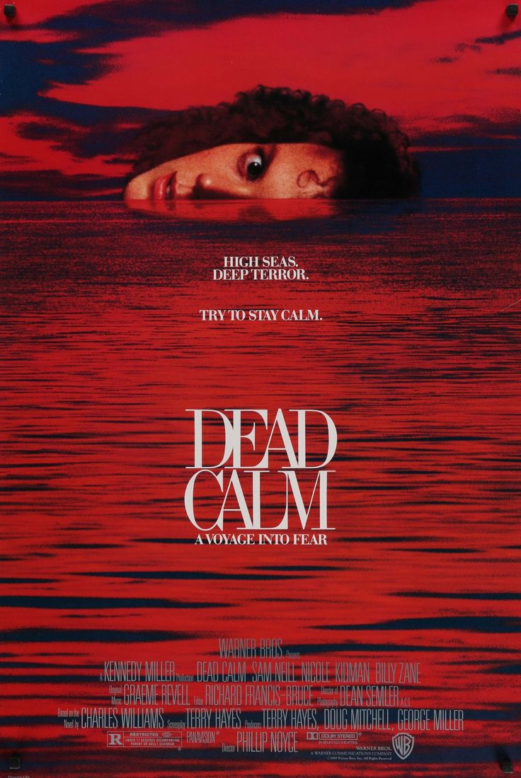"Film: Dead Calm (1989) Year poster printed: 1989 Country: USA Size: 27""x40"" This is a vintage one sheet (27""x40"") movie poster from 1989 for Dead Calm starring Sam Neill, Nicole Kidman and Billy Zane."
