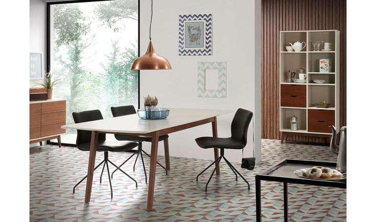 Comedor retro Nut   Descripcion : Mesa extensible con estructura de nogal americano macizo. 453e. Portobellostreet