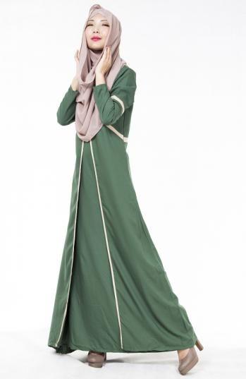 New Latest Muslim Womens Abaya Dress O-Neck Long Sleeve Floor-Length Islamic Kaftan Turkish Malaysia Saudi Arabia Style Clothing