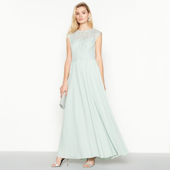 Debut Pale Green Olivia Floral Lace Maxi Dress Floral Lace Maxi Dress Dresses Maxi Dress