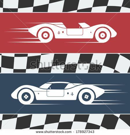 F Race Car Silhouette