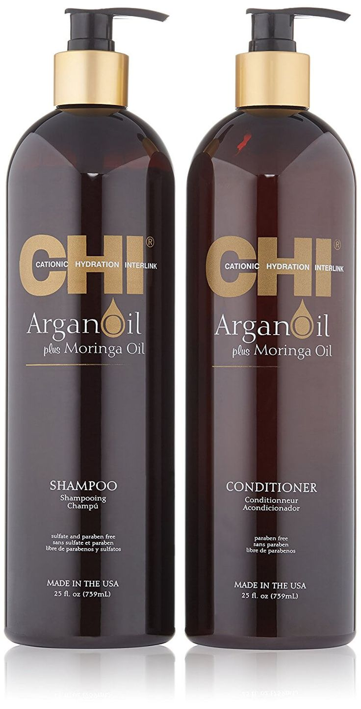 The best Argan oil shampoo and conditioner is free from sulfates, parabens and other chemicals. CHI is one of the best out there!