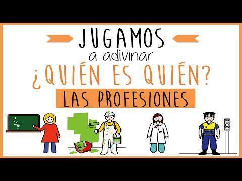 Las profesiones: Juego educativo para niños. Jugamos a adivinar ¿quién es quién? - YouTube