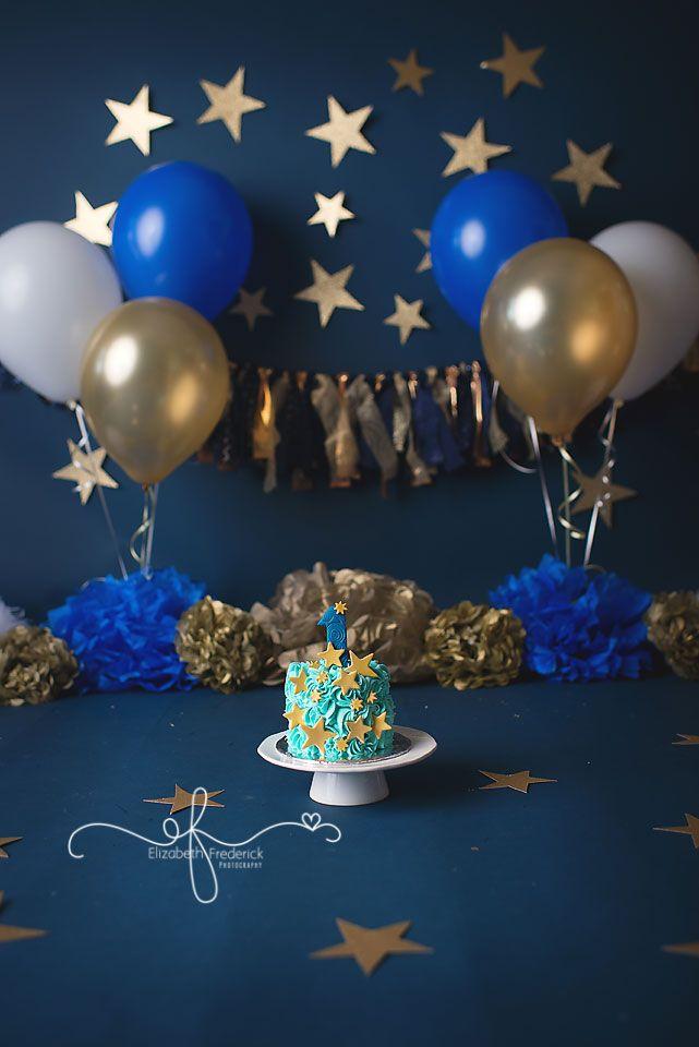 The Night Before You Were Born   Twinkle LIttle Star   Smash Cake Session  Gold & Navy Smash Cake   North Haven, CT Smash Cake Photographer Elizabeth Frederick Photography www.elizabethfrederickphotography.com