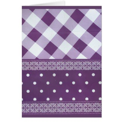 #Lovely Purple checkered Damask Seamless Pattern Card - #createyourown #cyo #gifts #cards #templates #designs #customize