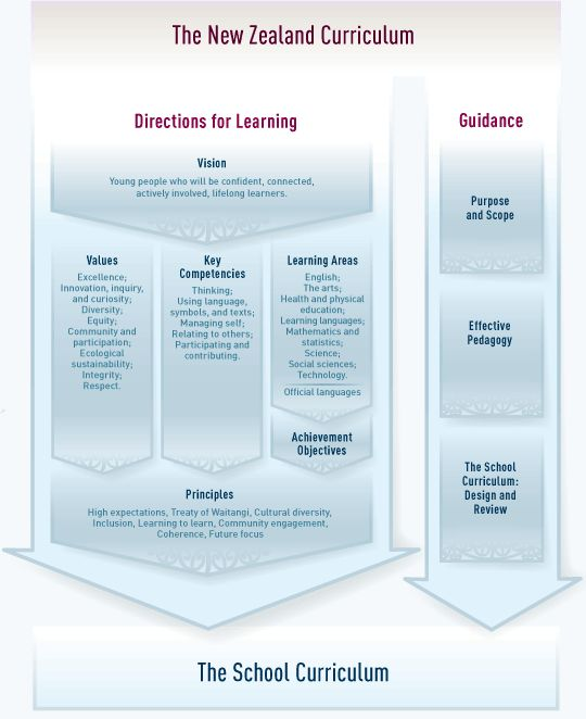 Schematic view of the NZ Curriculum