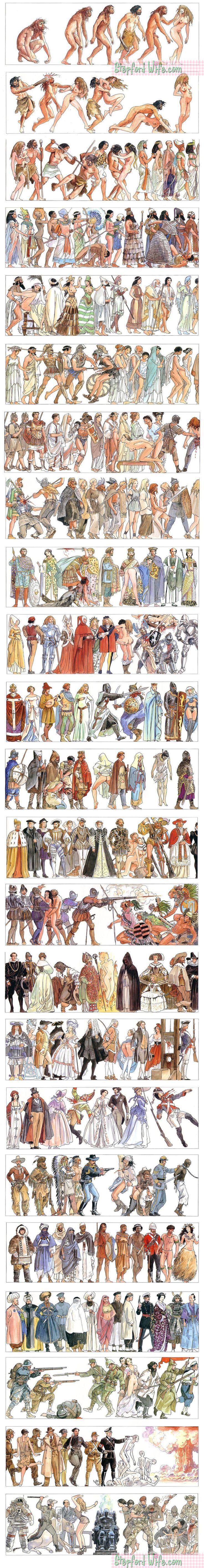 history of humanity by milo manara