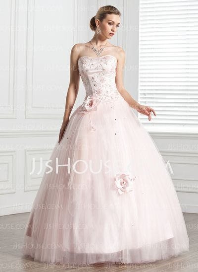 Quinceanera Dresses - $202.99 - Ball-Gown Sweetheart Floor-Length Satin Tulle Quinceanera Dress With Beading Flower(s) (021020807) http://jjshouse.com/Ball-Gown-Sweetheart-Floor-Length-Satin-Tulle-Quinceanera-Dress-With-Beading-Flower-S-021020807-g20807